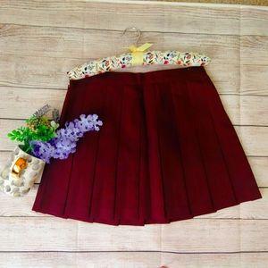American Apparel Tennis Skirt Maroon